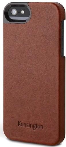 Puzdrá a kryty Kensington gelskin s textúrou kože pre iPhone 5, hnedá