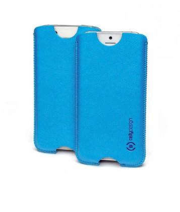 Puzdrá a kryty  Koženkové pouzdro - vel. XL; iPhone 5; tyrkysové