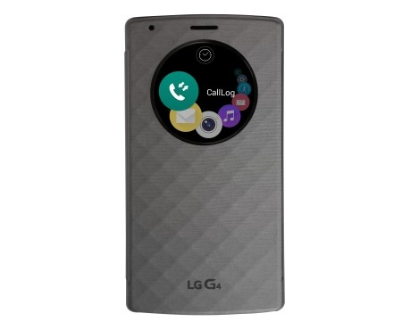 Puzdrá a kryty LG flip puzdro pre LG G4, strieborná