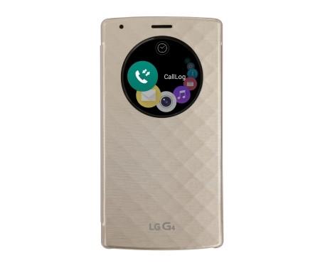 Puzdrá a kryty LG flip puzdro pre LG G4, zlatá
