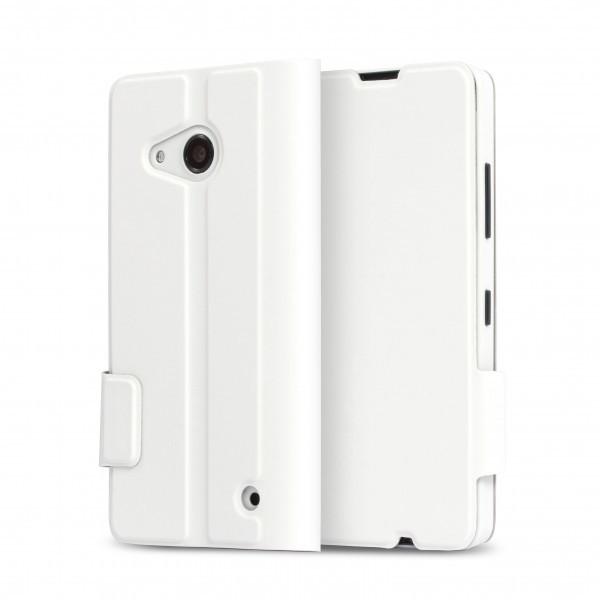 Puzdrá a kryty MOZO flipové púzdro pre Lumia 550 Biela