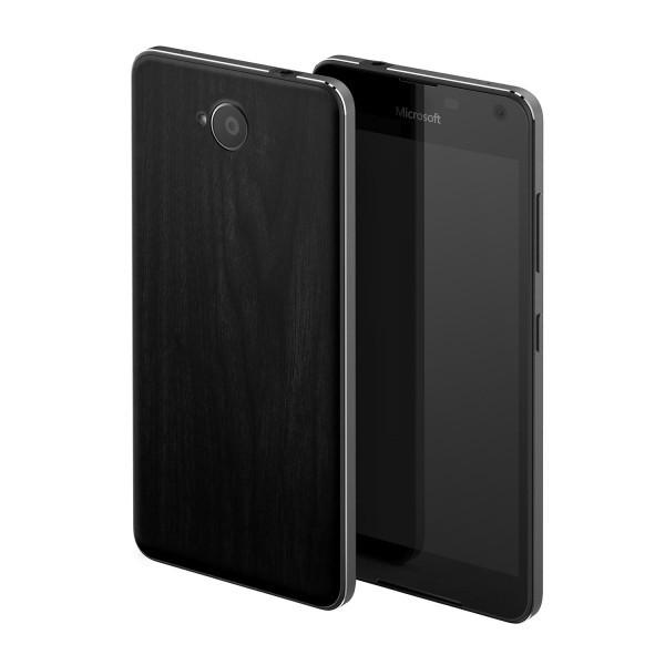 Puzdrá a kryty Mozo zadní kryt pro Lumia 650, imitace tmavého dřeva