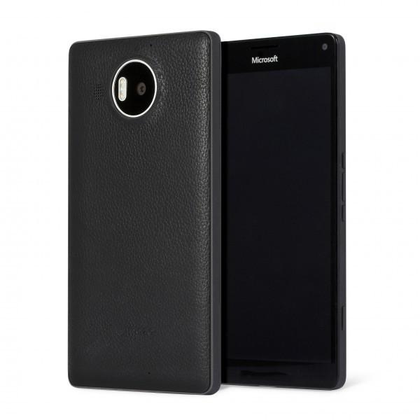 Puzdrá a kryty Mozo zadný kryt pre Lumia 950 XL Čierny vrátane rámčeku ROZBALENÉ