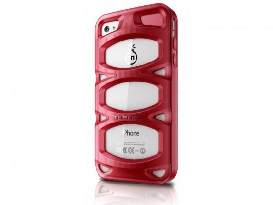 Puzdrá a kryty Musubo Double X gelskin pre iPhone 4 / 4S, červená