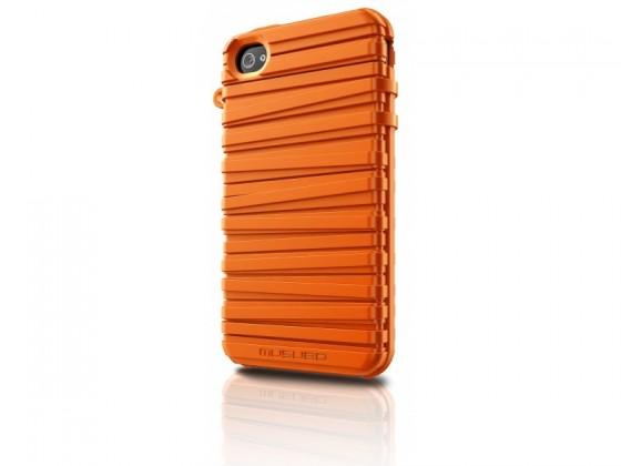Puzdrá a kryty Musubo Rubber Band gelskin pre iPhone 4 / 4S, oranžová