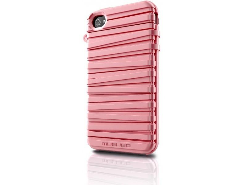 Puzdrá a kryty Musubo Rubber Band gelskin pre iPhone 4 / 4S, ružová