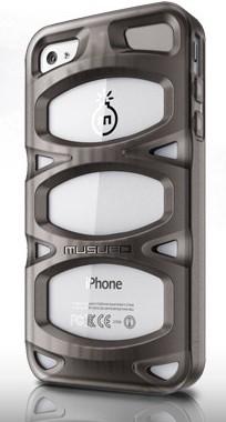 Puzdrá a kryty  Pouzdro Musubo Double X Apple iPhone 4/4S černé