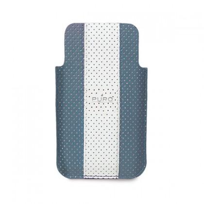 Puzdrá a kryty Puro obal pre iPhone 4 / 4s, modrá