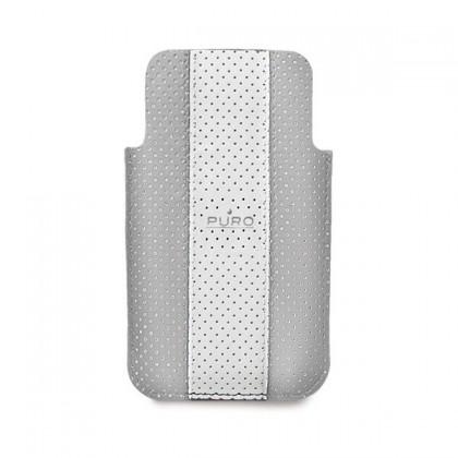 Puzdrá a kryty Puro obal pre iPhone 4 / 4s, šedá