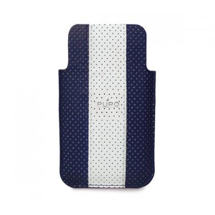 Puzdrá a kryty Puro obal pre iPhone 4 / 4s, tm. modrá