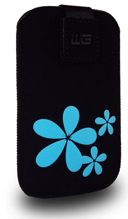 Puzdrá a kryty Puzdro BST 3D blue flower iPhone 3G/iPhone 4/iPhone 4S N C6/E5/