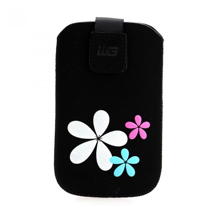 Puzdrá a kryty Puzdro KV2 3D čierne Sam i9100 Galaxy S II/S5690 Galaxy Xcover N