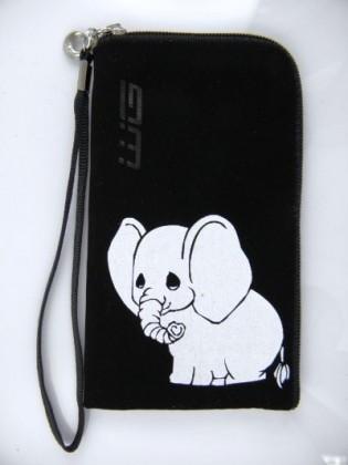 Puzdrá a kryty Puzdro Semiš Zips Elephant 2 veľ.1 čierne
