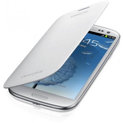Puzdrá a kryty Samsung EFC-1G6FWE Galaxy S III puzdro, biele