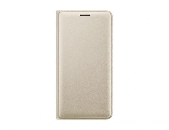 Puzdrá a kryty Samsung flip puzdro pre Galaxy J3, zlatá