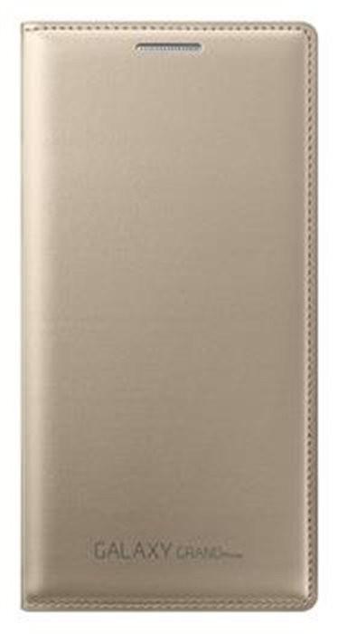Puzdrá a kryty Samsung flip puzdro pre Sam Galaxy Grand Prime SM-G530, zlatá