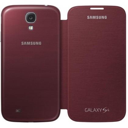 Puzdrá a kryty Samsung flip puzdro pre Samsung Galaxy S4, červená