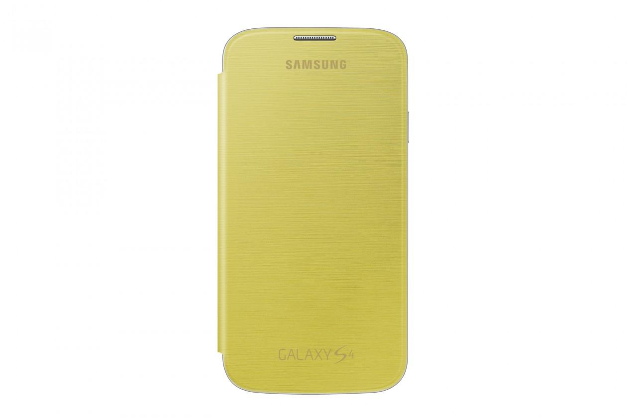 Puzdrá a kryty Samsung flip puzdro pre Samsung Galaxy S4, žltá