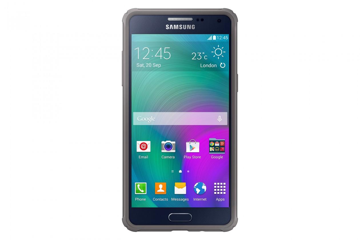 Puzdrá a kryty Samsung gelskin pre Samsung Galaxy A5, šedá