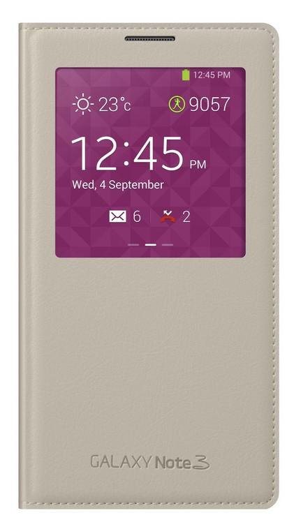 Puzdrá a kryty Samsung puzdro S-View pre Samsung Galaxy Note 3, béžová
