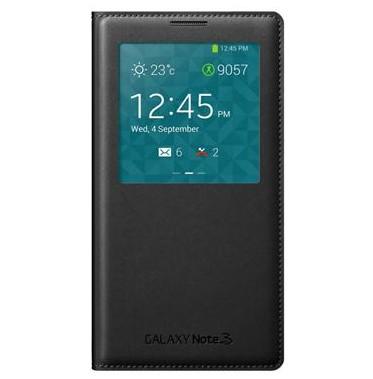 Puzdrá a kryty Samsung puzdro S-View pre Samsung Galaxy Note 3, čierna