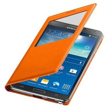 Puzdrá a kryty Samsung puzdro S-View pre Samsung Galaxy Note 3, oranžová