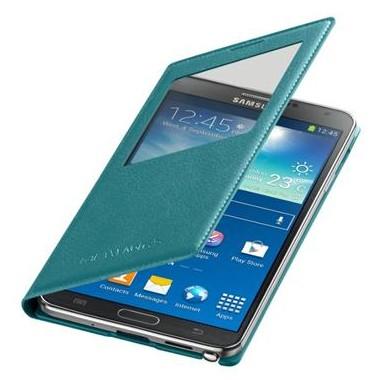 Puzdrá a kryty Samsung púzdro S-View pre Samsung Galaxy Note 3, tyrkysová