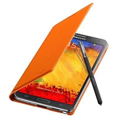 Puzdrá a kryty Samsung puzdro s vreckom pre Samsung Galaxy Note 3, oranžová
