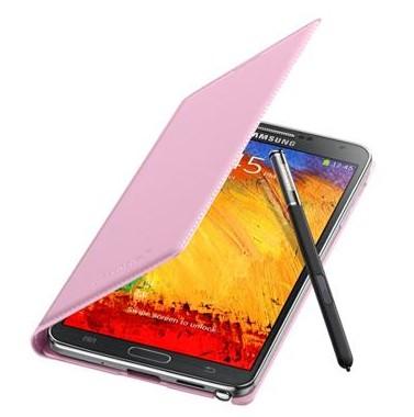 Puzdrá a kryty Samsung puzdro s vreckom pre Samsung Galaxy Note 3, ružová