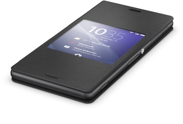 Puzdrá a kryty Sony flip puzdro pre Sony Xperia Z3, čierna