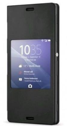Puzdrá a kryty Sony flip puzdro pre Sony Xperia Z3 Compact, čierna