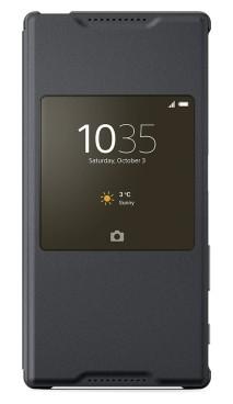 Puzdrá a kryty Sony flip puzdro pre Sony Xperia Z5, čierna