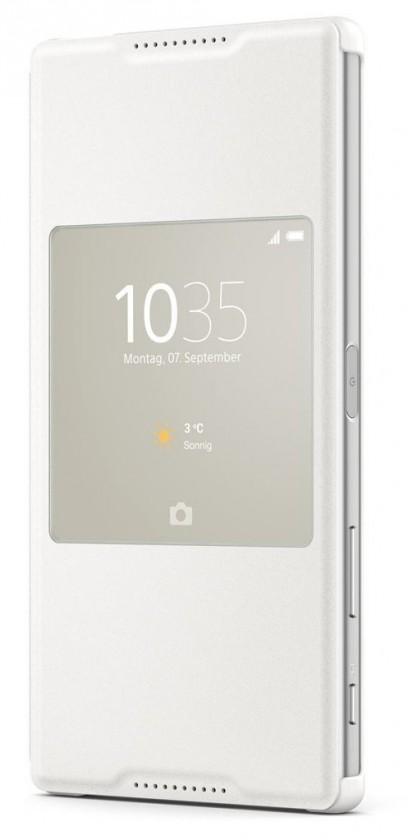 Puzdrá a kryty SONY SCR46 puzdro pro Xperia Z5 Premium biele