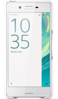 Puzdrá a kryty Sony zadný kryt pre Sony Xperia X, biela