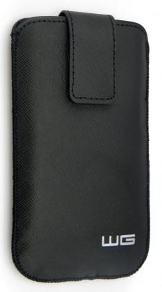 Puzdrá a kryty Univerzálne púzdro pre telefón WG Pure, vsuvka, 88x158mm, čierna
