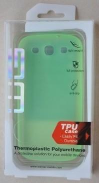 Puzdrá a kryty Winner Group gelskin + fólia pre Sam Galaxy S3 mini, zelená