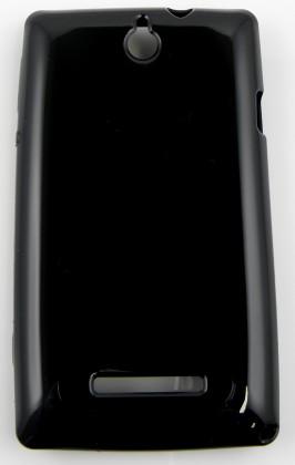 Puzdrá a kryty Winner Group gelskin + fólia pre Sony Xperia E, čierna