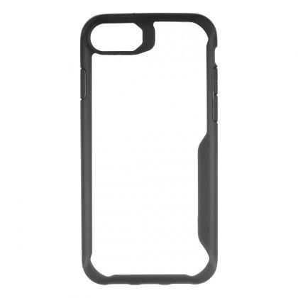 Puzdrá a kryty Zadný kryt pre Apple iPhone 7/8, priehľadná/čierna