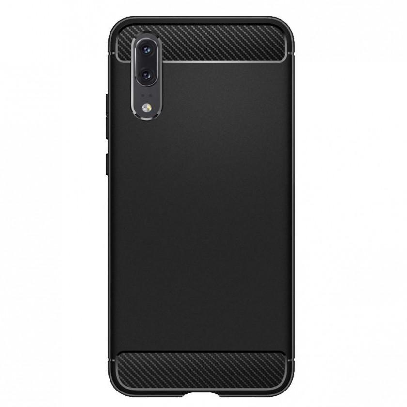 Puzdrá a kryty Zadný kryt pre Huawei P20, karbón, čierna
