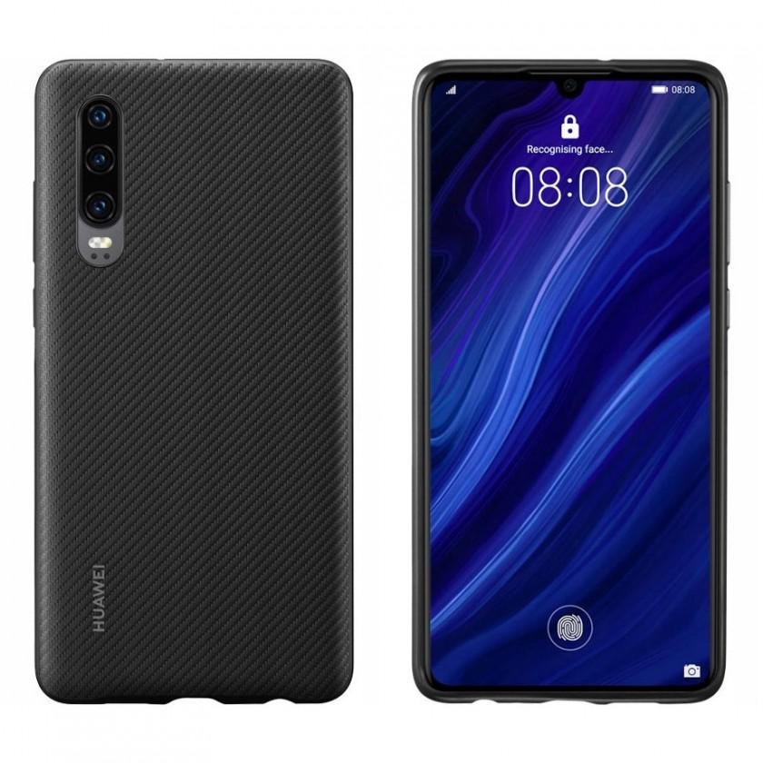 Puzdrá a kryty Zadný kryt pre Huawei P30, čierna
