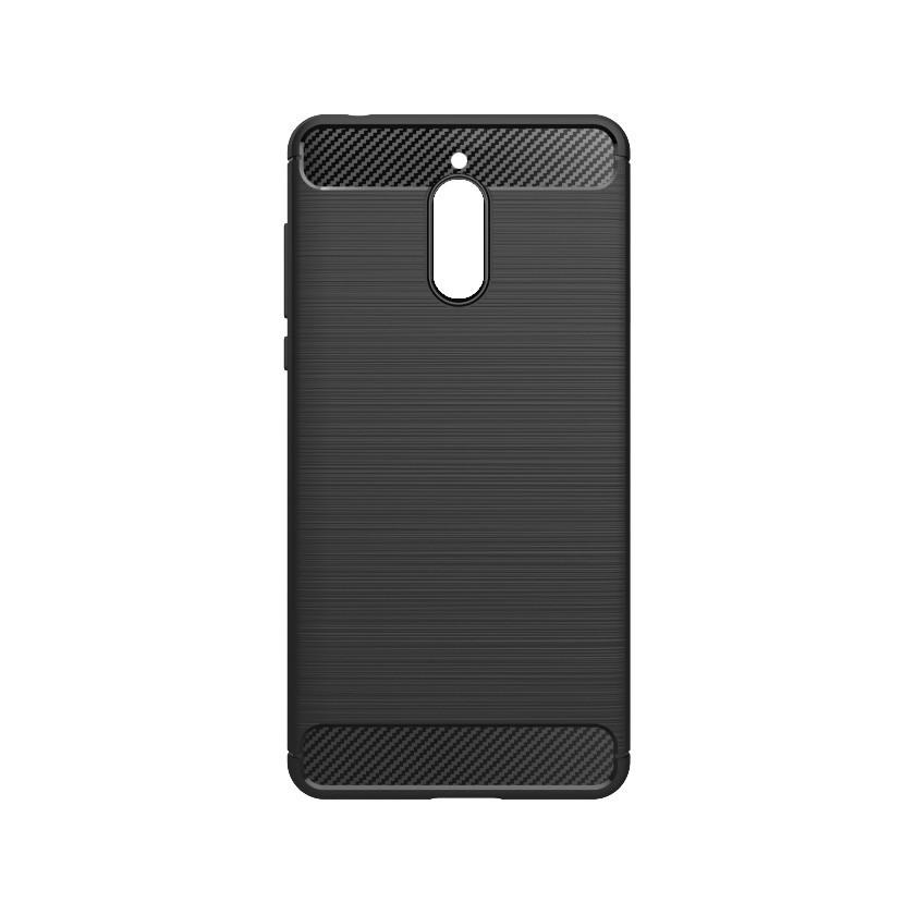 Puzdrá a kryty Zadný kryt pre Nokia 3.1, karbón, čierna