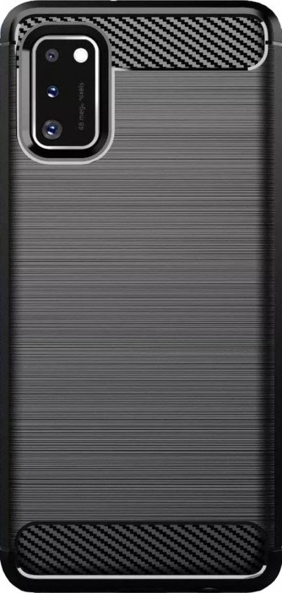 Puzdrá a kryty Zadný kryt pre Samsung Galaxy A41, Carbon, čierna