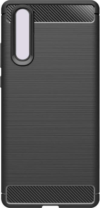 Puzdrá Huawei Zadný kryt pre Huawei P30, karbón, čierna