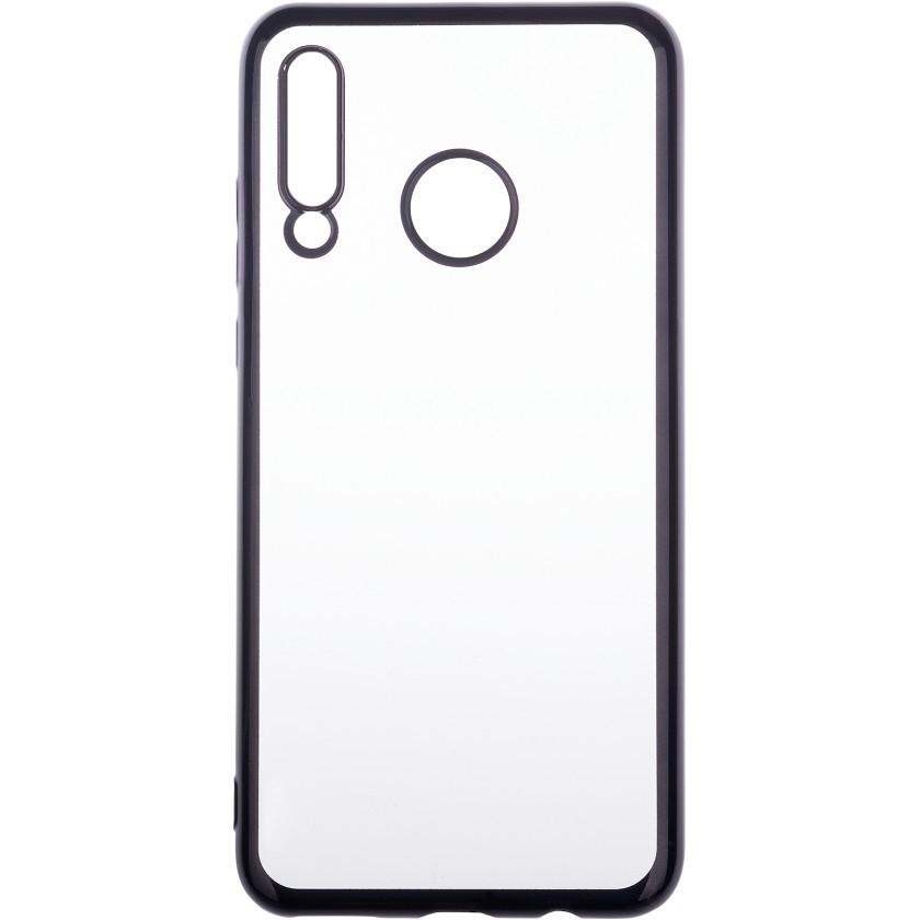 Puzdrá Huawei Zadný kryt pre Huawei P30 Lite, priehľadná/čierna