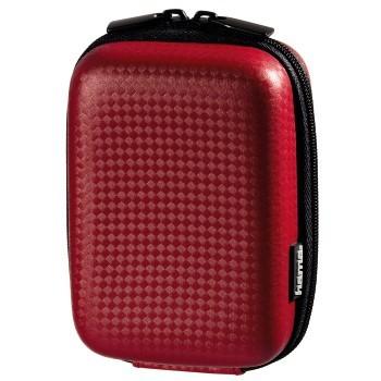 Puzdrá, obaly Hama Puzdro Hardcase Carbon Style 60 H, červené