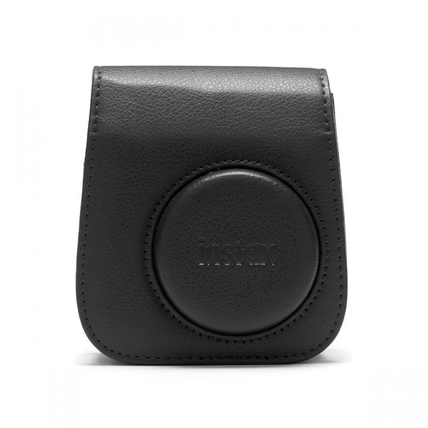 Puzdrá, obaly Puzdro pre fotoaparát Instax Mini 11, kožené, popruh, čierna
