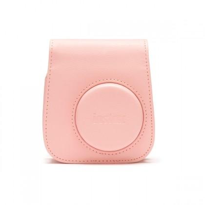 Puzdrá, obaly Puzdro pre fotoaparát Instax Mini 11, kožené, popruh, ružová