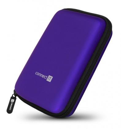 """Puzdrá pre HDD Pevné ochranné púzdro na 2,5"""" HDD Connect IT CFF5000BL, modré"""