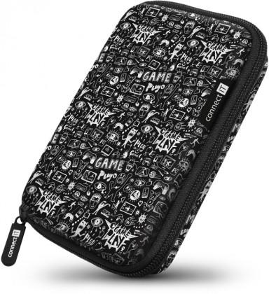 """Puzdrá pre HDD Pevné ochranné púzdro na 2,5 """"HDD Connect IT CFF5000DD, Doodle"""