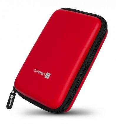 """Puzdrá pre HDD Pevné ochranné púzdro na 2,5"""" HDD Connect IT CFF5000RD, červené"""
